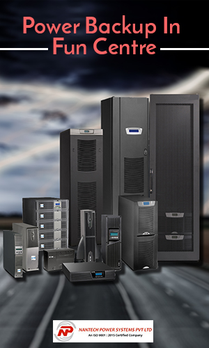 Image That Depicts the Group of Four Different Sizes and Capacities of UPS Inverters For Fun Centres In Black Background.
